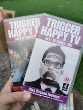 2 x TRIGGER HAPPY TV VHS TAPES BEST OF SERIES ONE & TWO *RARE & UNSEEN FOOTAGE