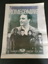 "Dave Matthews Band homecoming ""C'Ville"" Commemorative Newspaper 4/21/01 concert"