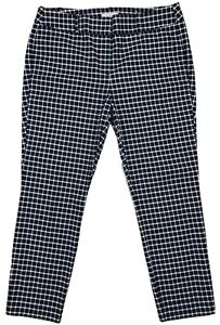 Women's Ann Taylor LOFT Black Plaid Modern Skinny Ankle Pants NEW! Size 10P