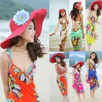 Beach Shawl Deep V Wrap Bikini Chiffon Swimwear Beach Dress Cover Up Sarong