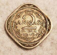 1946 India 2 Annas coin