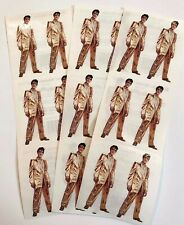 3 sheets Solid Gold Elvis Stickers by Paper House Productions King Rock & Roll
