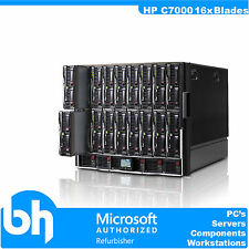 HP Proliant C7000 Blade Center 16x BL460c Twin Dual Core E5150 4GB RAM Blades