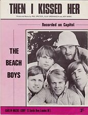 The Beach Boys-Then I Kissed Her-1967 Sheet Music-UK issue-Phil Spector-Rare!