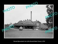 OLD POSTCARD SIZE PHOTO OF BOONAH QUEENSLAND THE BOONAH BUTTER FACTORY c1950