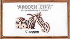 Wooden City ® Chopper widget, Wooden mechanical models, automontable!