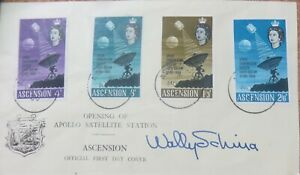 1966 Ascension  Opening Of Apollo Station Signed Cover.