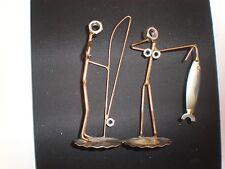 Rock Creek Metal Craft ART FISHING BUDDIES 2 CHARACTERS GIFT HOBBY FISHING NEW