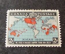 Canada Scott# 86 Imperial Penny Postage Issue Map of British Empire MH 1898 C453