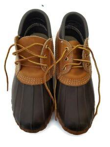 LL BEAN Women's Size 6 Rubber Moc BEAN BOOTS Duck Mucks Boots Shoes Brown & Tan