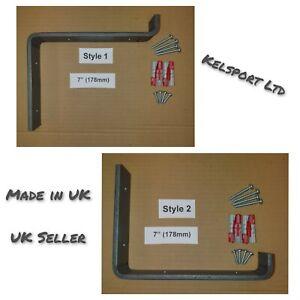 Heavy Duty Steel Scaffold Board Rustic Shelf Brackets 178mm 7inch Made in UK