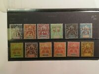 French Stamps -- France 1892 1a, 1-5, 7-12