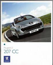 Peugeot 207 CC 2007-09 UK Market Sales Brochure Sport GT 1.6 16v THP 150 HDi 110