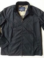 Barbour Brompton Men's Waxed Cotton Jacket -Navy, Size M,  L, XXL
