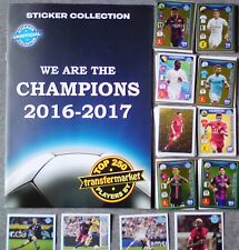We Are The Champions 2016-17 empty album + complete set of stickers