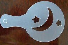 """Moon & forma de estrella """"leche del café Decoración Pastel Cupcake plástico plantilla plantilla"""