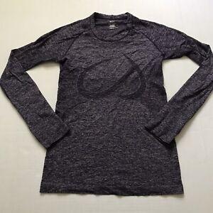 CRZ YOGA Women's S Purple LS Athletic Seamless Sports Run Shirt Breathable Top