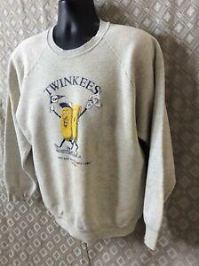 Vintage 1991 World Series Minnesota Twins MLB Baseball Gray Sweatshirt TWINKEES!