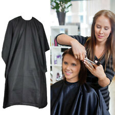 Professional Hair Cutting Cape Salon Barber Hairdressing Gown Cloth Black Fan