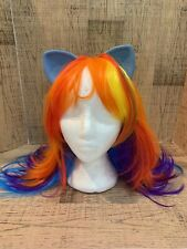 My Little Pony MLP Rainbow Dash Cosplay Wig Hair with Ears Adult