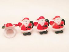 12 Santa Clause Christmas Cupcake Rings Toppers Party Favors Decorations
