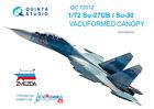 Quinta QC72012 1/72 Su-27UB/Su-30 vacuformed clear canopy for Zvezda kit