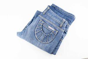 Womens Sass And Bide Low Rise Zip Blue Denim Jeans Size 29W 33L EC Free Postage