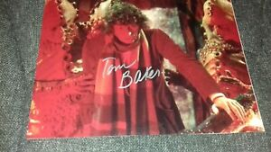 doctor who  tom baker 10x8 autograph photo