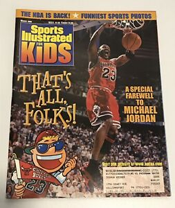 1999 Sports Illustrated for Kids Card Michael Jordan UNCUT Sheet RARE Near Mint