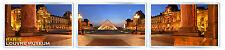 PARIS LOUVRE MUSEUM PANORAMA SET OF 3 FRIDGE MAGNET SOUVENIR 3 IMANES NEVERA