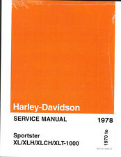 1970-1978 Harley Sportster Roadster Super H XL XLH XLHC Repair Service Manual