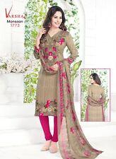 Unstitched Salwar Kameez Punjabi Suit Indian Bollywood Designer Synthetic V1773