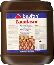 Baufan peinture de Clôture 5l Braun Lasure protection du bois Glaçure Jardin