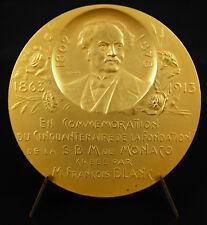 Médaille Monaco Société des Bains de Mer Tony Szirmaï 1913 François Blanc medal
