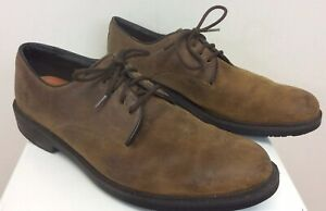 Men's Timberland Shoes Brown Leather Waterproof Anti-Fatigue Size 10 M