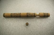 """Spinning Rod Handle Nat. Burl, Light Mix, 2.5"""" Fore, 8"""" rear grip"""