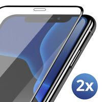 2x 9D Panzerfolie Schutzglas für iPhone X iPhone XS Full Screen Display 9H Glas