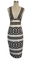 SHONA JOY Chain Link Pencil Stretch Dress. Size 6. GUC