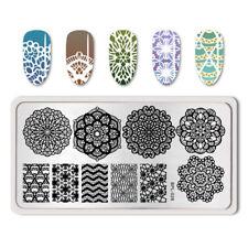 BORN PRETTY Nail Art Stamping Plate Vines Lace Chevron Image Template BP-L028