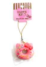 SANRIO HELLO KITTY Pink Donut Sprinkles Kawaii RARE Squishy Mini Cellphone Charm