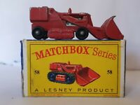 MATCHBOX LESNEY DIECAST MODEL 58 DROTT CONSTRUCTION EXCAVATOR VEHICLE RED BOXED