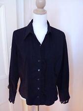 basque black  pinstripe lace trim  cotton  stretch shirt  as bought