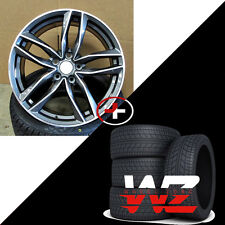 "20"" 1196 Style Wheels Gunmetal Machined  W/Tires Fits Audi A4 A5 A6 TT VW Rims"