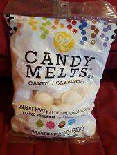Wilton Candy Melts Bright White Artificial Vanilla Flavor 12 Oz Ounce Bag