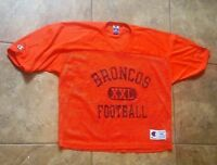 Vintage Denver Broncos Mesh Practice Jersey Champion Men's 44 NFL Football Team