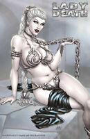 """Lady Death Scorched  Earth #1 """"Naughty Lady Slave"""" METAL COVER Ltd. 26 Comic"""