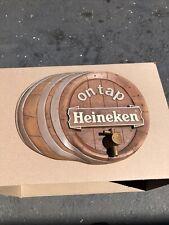 Vintage 3D Heineken On Tap Barrel Beer Sign 16� X 12� - Tougher Version Plastic