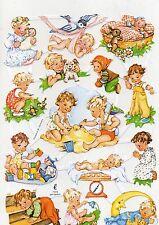 1 Bogen Glanzbilder Poesie Kinder Baby´s ef 7016 Nr.618