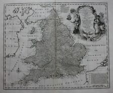 ORIGINALE ANTICO MAPPA ENGLAND & WALES, Sud Gran Bretagna, E. Bowen, 1747