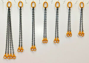 Crane Lifting Chain Set. In Authentic Liebherr Yellow. 1/50th, 1/48th